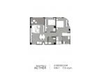 Aeras Condo - unit plans (2-bedroom) - 1