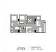 Aeras Condo - unit plans (2-bedroom) - 3