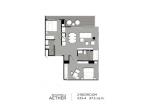Aeras Condo - unit plans (2-bedroom) - 4