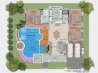Baan Dusit Pattaya - 1-storey house 233 sqm, land plot 440-750 sqm, 3 bedroom, 2 bathroom, pool 50 sqm - 6