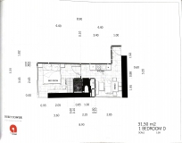Dusit Grand Tower - 1 bedroom apartment plans - 1