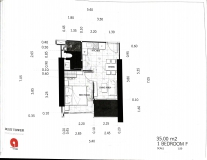 Dusit Grand Tower - 1 bedroom apartment plans - 3