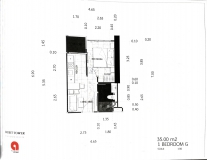 Dusit Grand Tower - 1 bedroom apartment plans - 4