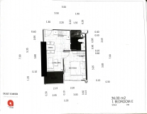 Dusit Grand Tower - 1 bedroom apartment plans - 6