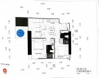 Dusit Grand Tower - 2 bedroom apartment plans - 1