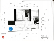 Dusit Grand Tower - 2 bedroom apartment plans - 2