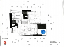 Dusit Grand Tower - 2 bedroom apartment plans - 3
