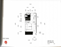 Dusit Grand Tower - Studio room plans - 2