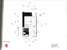 Dusit Grand Tower - Studio room plans - 4