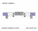 Grande Caribbean Condo - 楼层平面图 bld Cruze - 11