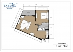 Laguna Beach Resort 3 Maldives - unit plans - type E - 1