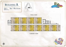 Seven Seas Le Carnival Pattaya - building A  Rio - floor plans (8 floors) - 4
