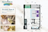Seven Seas Le Carnival Pattaya - unit plans - 1