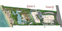 Palm Wongamat - 楼层平面图 - 1