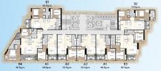 Palm Wongamat - 楼层平面图 - 2