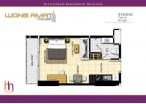 Wongamat Tower - 房间平面图 - 11