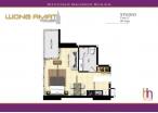 Wongamat Tower - 房间平面图 - 12