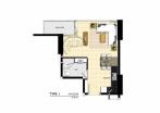 Wongamat Tower - 房间平面图 - 15