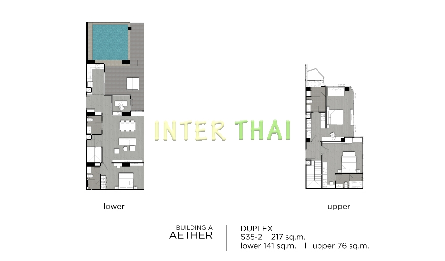 Aeras condo unit plans duplex penthouse 3 bedroom 17 for 4 unit condo plans