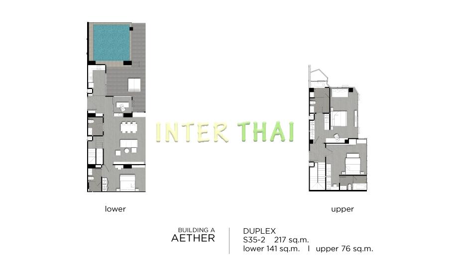Aeras condo unit plans duplex penthouse 3 bedroom 17 for 4 unit condo plans