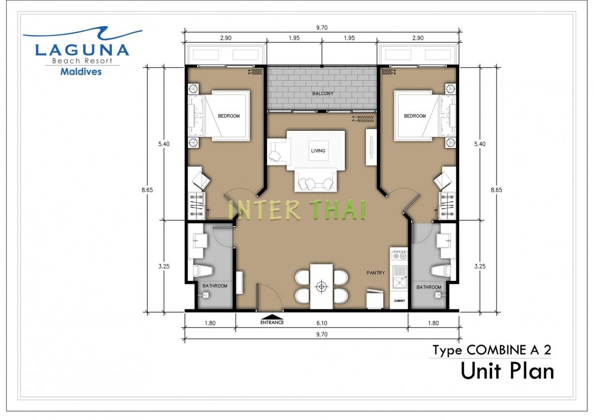 Laguna beach resort 3 maldives unit plans type a 17 for 5 unit apartment building plans