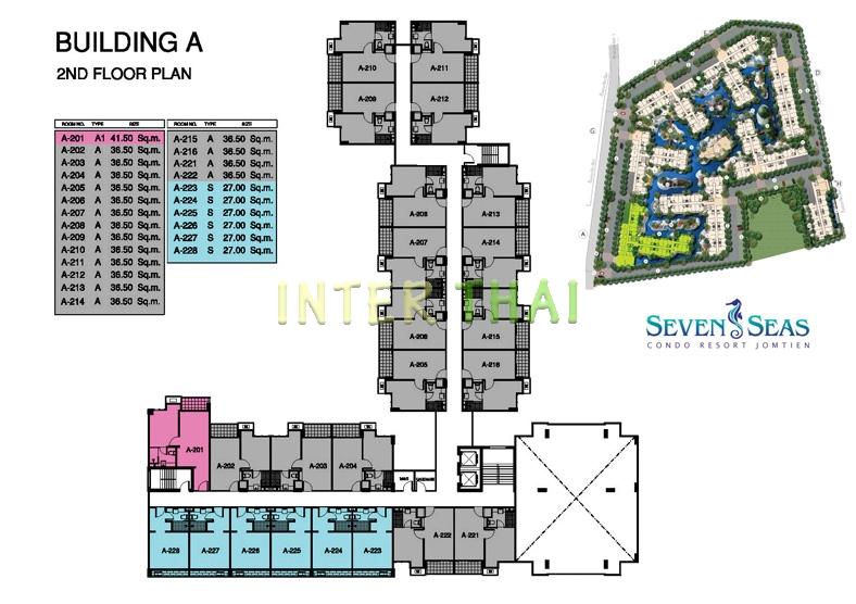Seven Seas Condo Jomtien - Plans D Etage