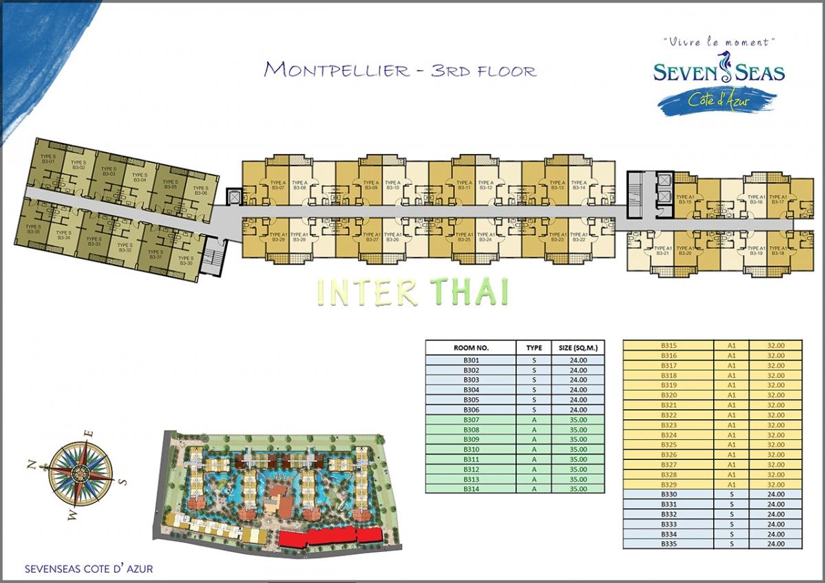 Seven Seas Cote D Azur - Grundriss Layout