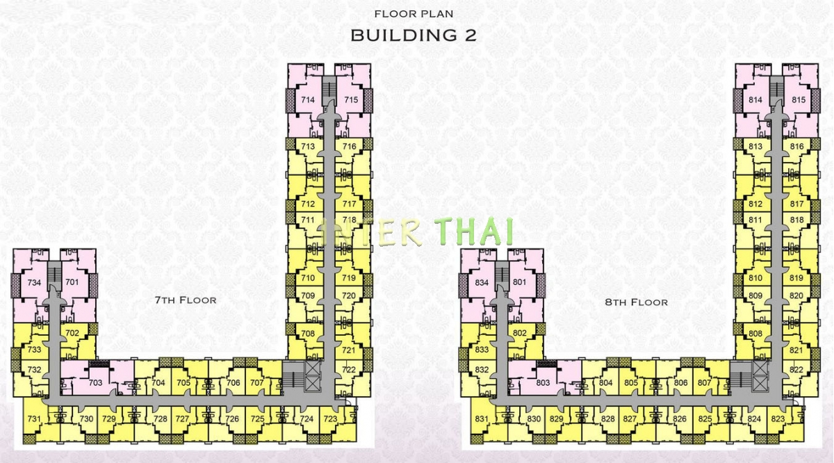 Arcadia Beach Resort - floor plans - building 2 - 17