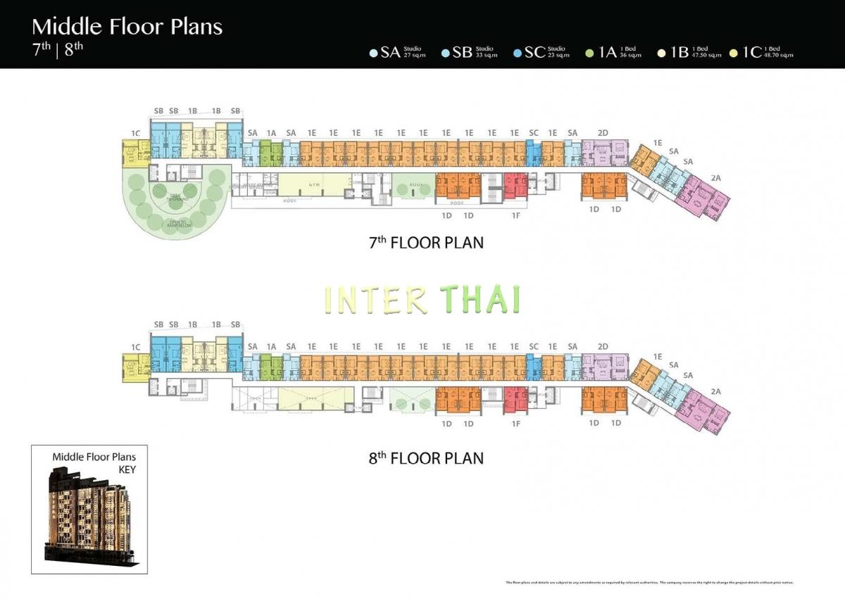 Riviera Jomtien - floor plans (7-37) - 17