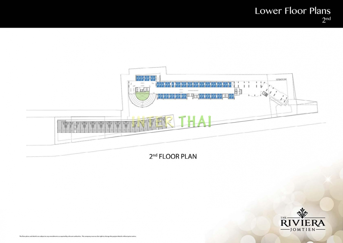Riviera Jomtien - masterplan, parking - 17