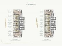 Arom Wongamat Condo - 楼层平面图 - 4