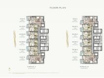 Arom Wongamat Condo - 楼层平面图 - 7