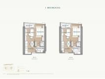 Arom Wongamat Condo - apartment plans - 1