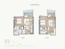 Arom Wongamat Condo - apartment plans - 10