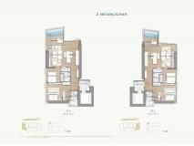 Arom Wongamat Condo - apartment plans - 12