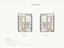 Arom Wongamat Condo - apartment plans - 2