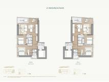 Arom Wongamat Condo - apartment plans - 3