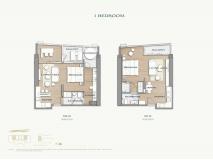 Arom Wongamat Condo - apartment plans - 4
