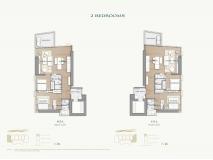 Arom Wongamat Condo - apartment plans - 9