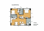 Club Royal - 房间平面图 - 13