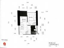 Dusit Grand Tower - 1 bedroom apartment plans - 2