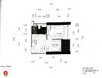 Dusit Grand Tower - 1 bedroom apartment plans - 7