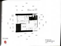 Dusit Grand Tower - 1 bedroom apartment plans - 8