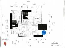Dusit Grand Tower - 2 bedroom apartment plans - 3