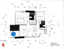 Dusit Grand Tower - 2 bedroom apartment plans - 4