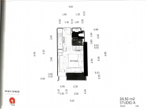 Dusit Grand Tower - Studio room plans - 1