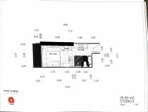 Dusit Grand Tower - Studio room plans - 3