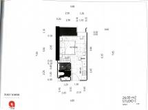 Dusit Grand Tower - Studio room plans - 6