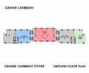 Grande Caribbean Condo - 楼层平面图 bld Cruze - 1