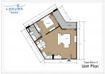 Laguna Beach Resort 3 Maldives - unit plans - type E - 4